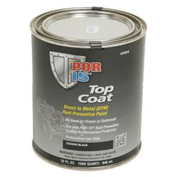 POR-45904-POR 15 TOP COAT RUST PREVENTIVE PAINT, CHASSIS COAT BLACK, QUART