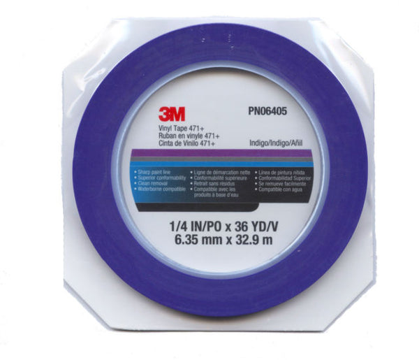 MMM-06405 RL 1/4 IN BLUE FINELINE VINYL TAPE