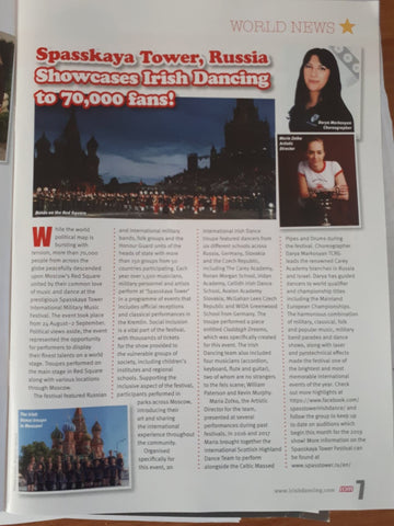 Irish Dancing Magazine Spasskaya Tower Festival 2018