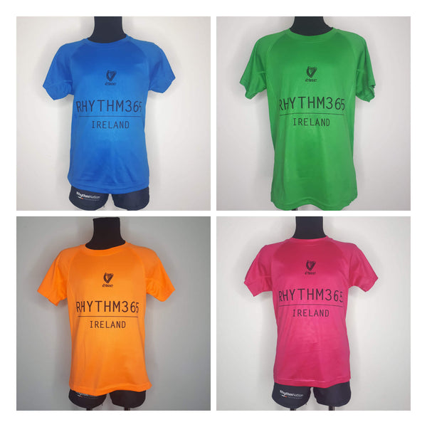 """Rhythm 365"" Performance t-shirt ( 4 colours)"