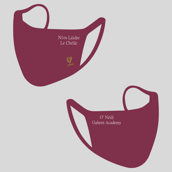 """Burgundy 21"" double layer mask"