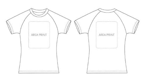 Customised Express White Tshirt (Ladies)