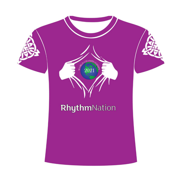 Rhythm Nation Irish Dancing Tshirt Purple
