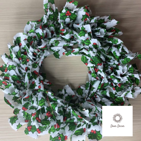Handmade Fabric Wreath (Green)