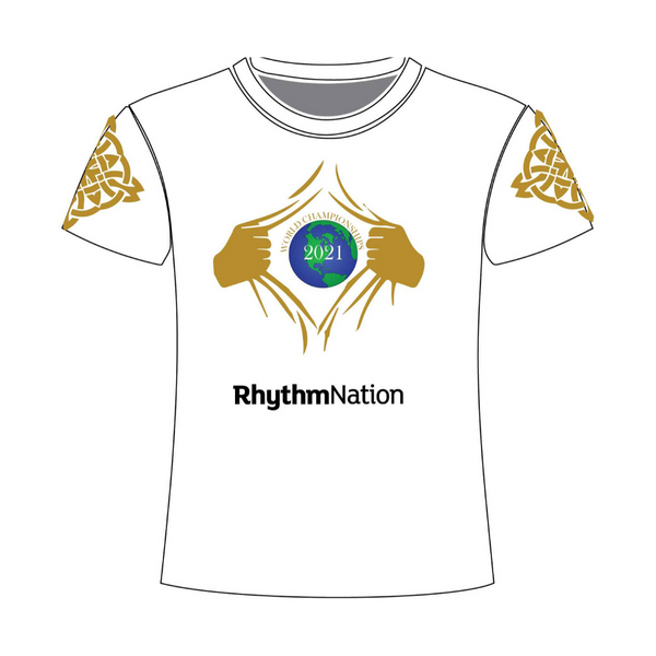 Rhythm Nation White Irish Dancing Tshirt