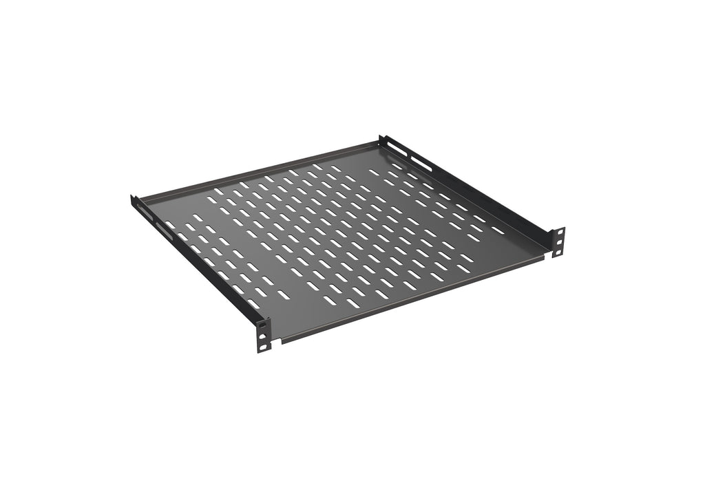 "4SH-L450 19"" Shelf 4X, Depth 450mm, Load rating 20kg, RAL9005"