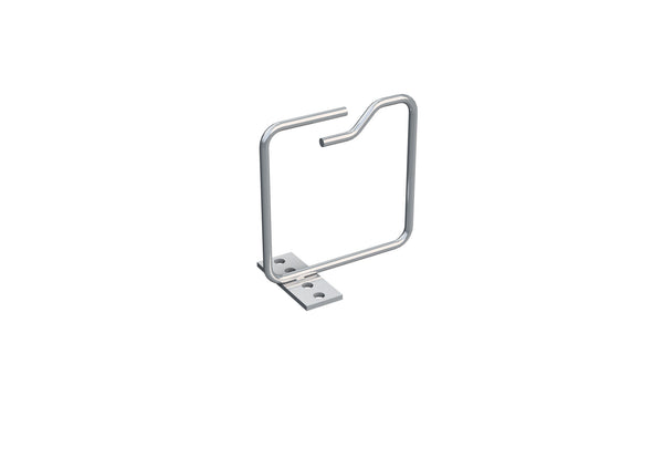4X Metal Cable Brackets, verticall, 100x14 mm, front entry, 10 Pcs