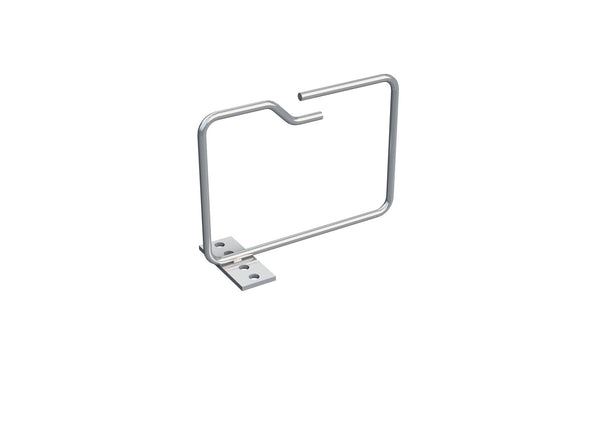 4X Metal Cable Brackets, verticall, 100x100mm, front entry, 10 Pcs