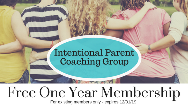 Gift Certificate for a free One Year Membership in the Intentional Parent Coaching Group