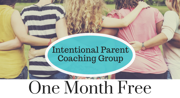 Gift Certificate for 1 Free Month of Intentional Parent Coaching Group