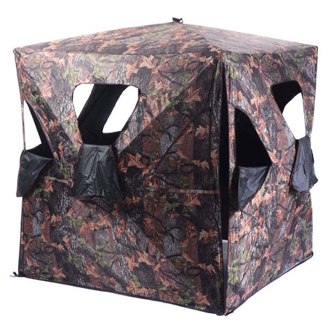 From US Delivery Ground Hunting Blind Portable Deer Pop Up Camo Hunter Weather Proof Mesh Window Outdoor Kits