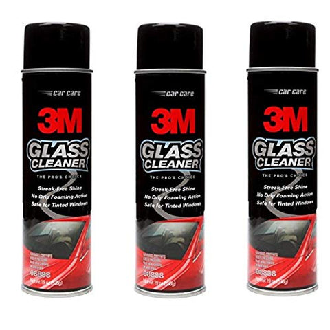 3M 08888 Glass Cleaner 19 Oz, 3 Pack