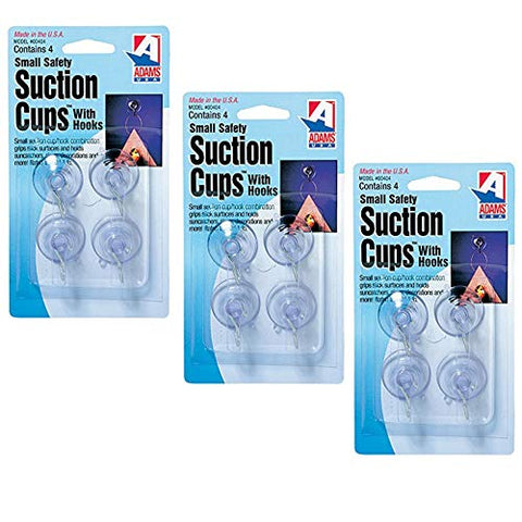 Adams Manufacturing - 7500-77-3040, 1 1/8 in. Suction Cups, Small, 12 Pack