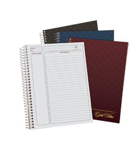 Ampad Gold Fibre Project Planner, Assorted Color Covers, 9.5 x 7.25, 84-Sheets, 3-Pack