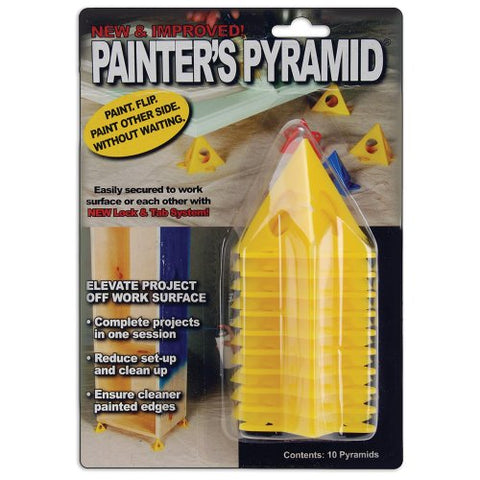 4-PACK - Painter's Pyramid Stands, Yellow