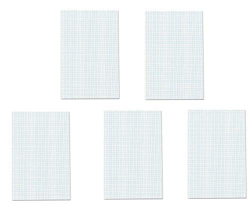 Ampad Quadrille Double Sided Pad, 11 x 17, White, 4x4 Quad Rule, 50 Sheets, 5 Pads, 250 Sheets Total (22-037)