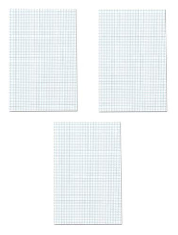 Ampad Quadrille Double Sided Pad, 11 x 17, White, 4x4 Quad Rule, 50 Sheets, 3 Pads, 150 Sheets Total (22-037)