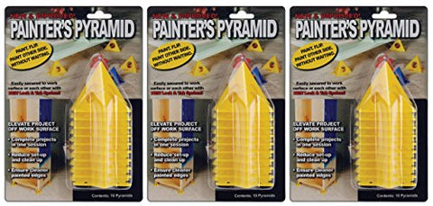 3-PACK - Painter's Pyramid Stands, Yellow