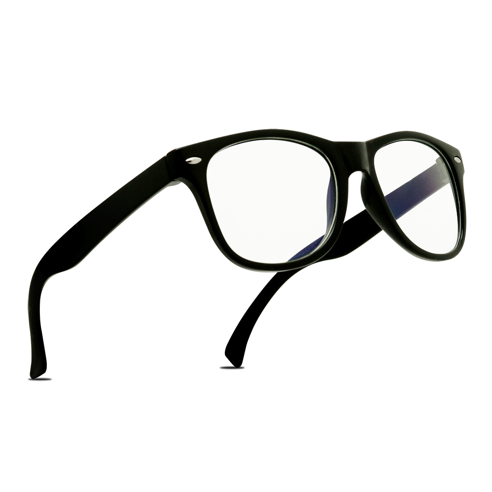 SEAN Black and Blue Frame Classic Retro Style Kids Blue Light Blocking Glasses