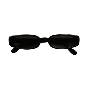 STELLA Slim Vintage 90's Small Wide Rectangular Frame Sunglasses - ShadyVEU