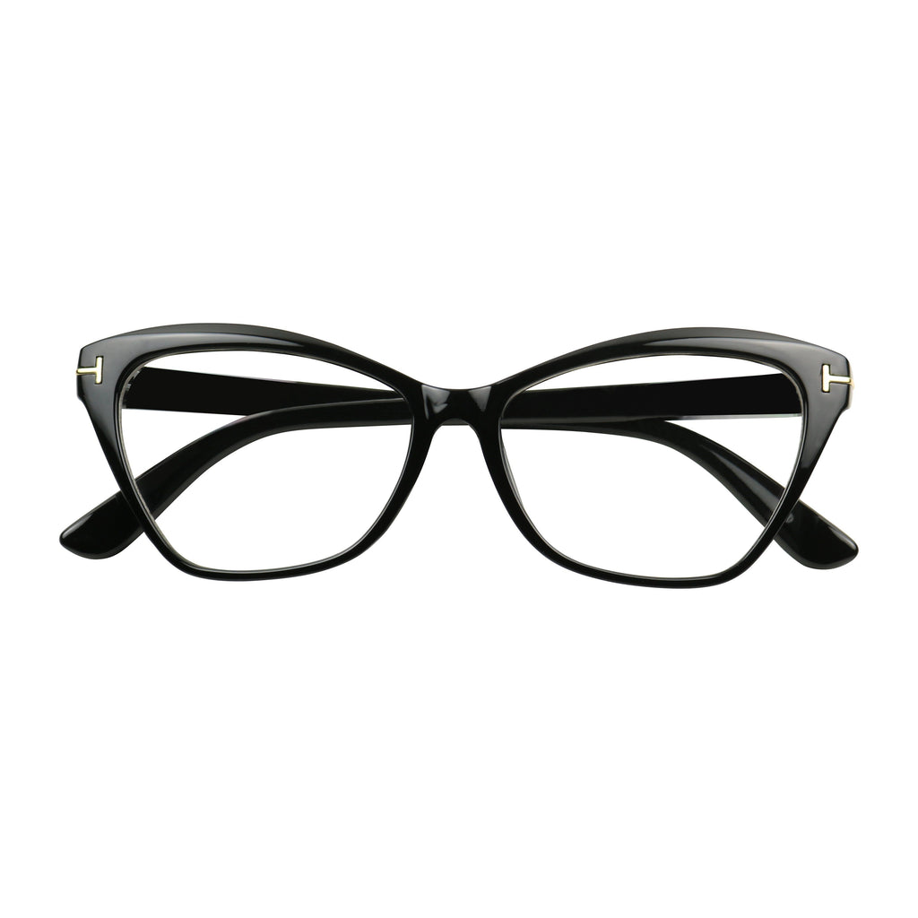 d5e5bfafb6d ... LEXY Sophisticated Cat Eye Chic Vintage Designer Clear Lens Glasses -  ShadyVEU ...