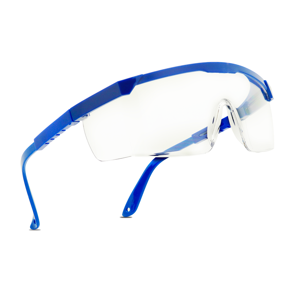JACOB Flat Top Colored Frame Protective Eye Shield Clear Lens Adjustable Glasses