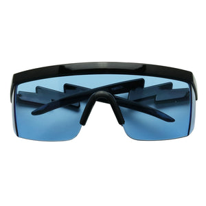 JACK Flat Top Retro ZigZag Arms Tinted Lens Sunglasses - ShadyVEU