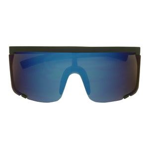 KYLE Oversized Flat Top Half Rimless Mono Lens Sunglasses - ShadyVEU