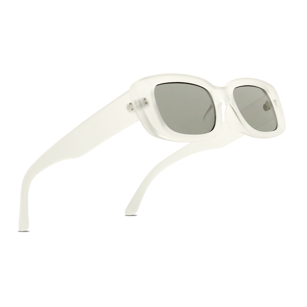 JAMIE Slim Fashion Retro Clear Colored Frame Beach Vibes Sunglasses