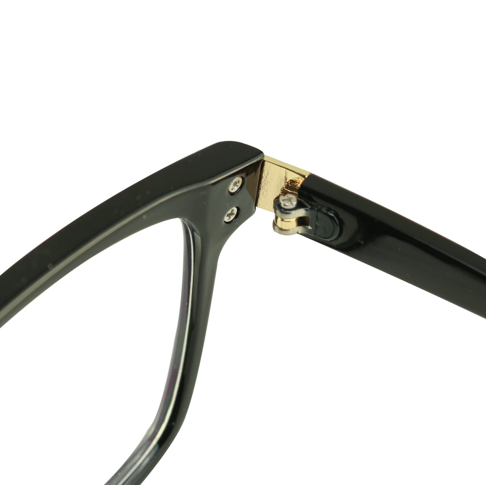 ANDI Oversized Square Gold Accent Blue Light Blocking Glasses