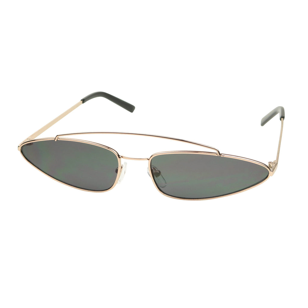 6b0fbb1247108 ... CLOE Slim Full Metal Cat Eye Triangle 90 s Inspired Sunglasses -  ShadyVEU ...