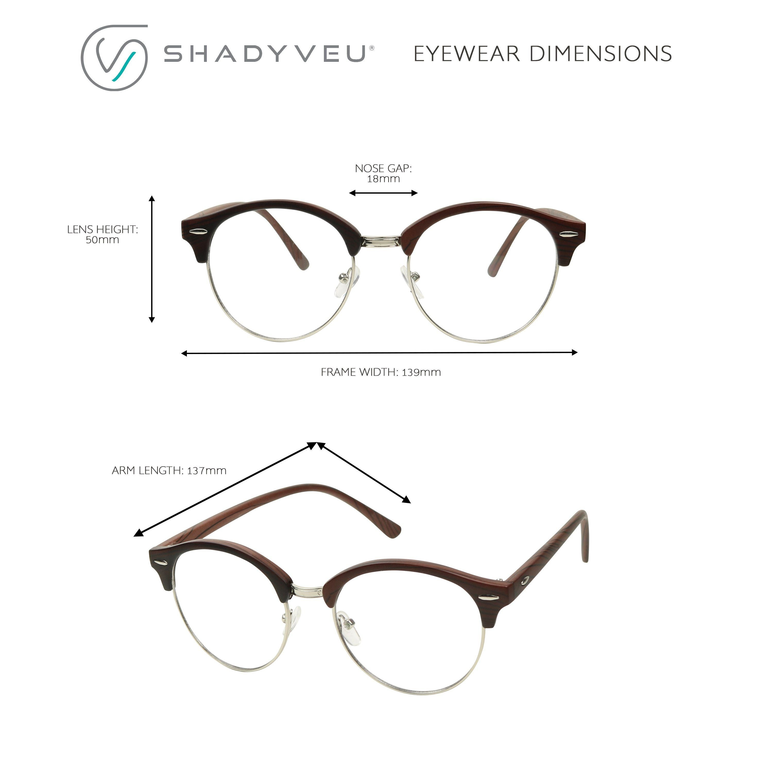 c1139ce6a ... HOLLY Round Retro 1980's Hipster Circle Vintage Clear Lens Glasses -  ShadyVEU