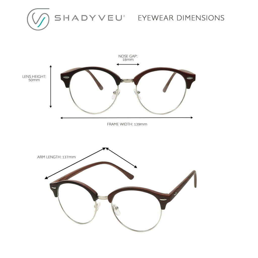 dff1d8287fc ... HOLLY Round Retro 1980 s Hipster Circle Vintage Clear Lens Glasses -  ShadyVEU