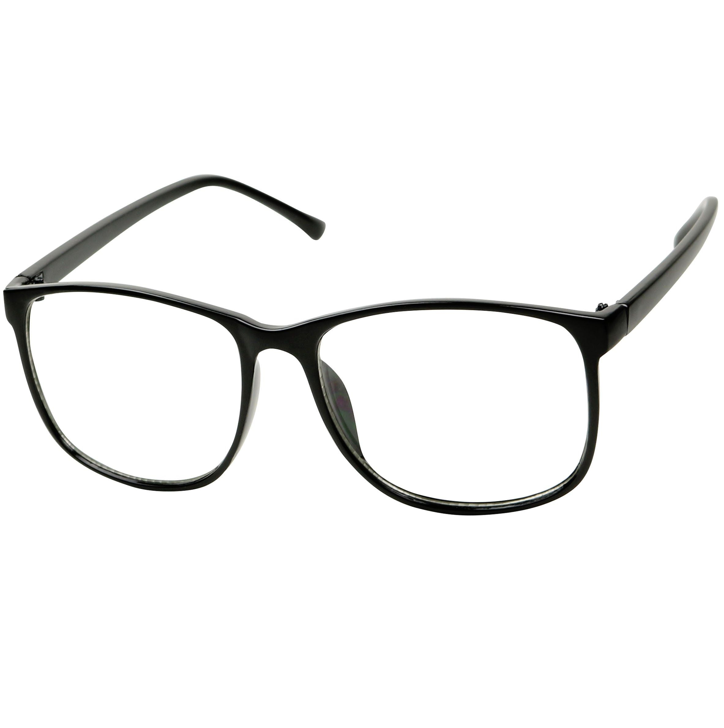 4ab4a26971c ... MONA Retro Fashion Over Sized P3 Geeky Squared-off Round Clear Glasses  - ShadyVEU ...
