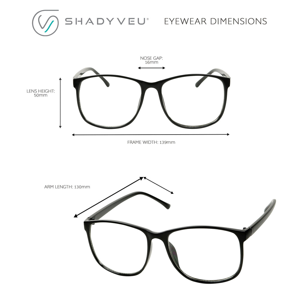 e4d8ecfee92 ... MONA Retro Fashion Over Sized P3 Geeky Squared-off Round Clear Glasses  - ShadyVEU