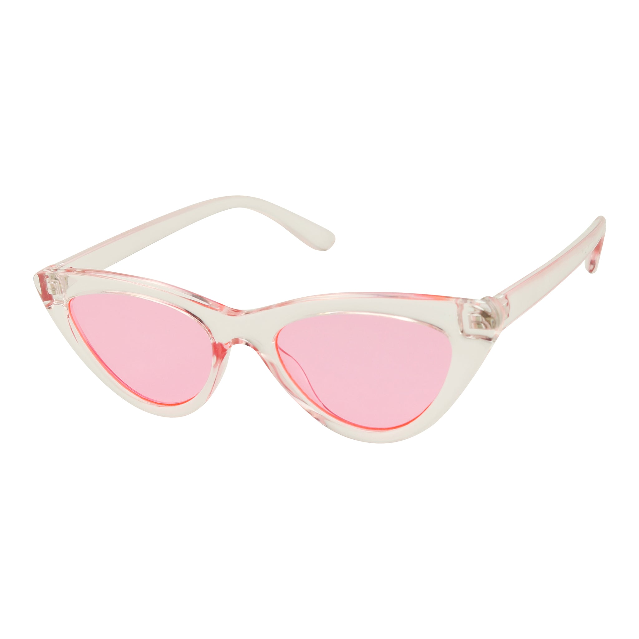 ALISON Candy Colors High Point Clear Tinted Cat Eye Sunglasses - ShadyVEU
