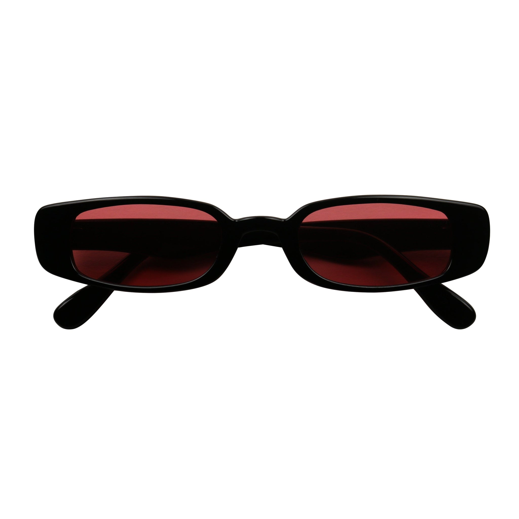 GIGI Square Flat Top Tinted Plastic Sunglasses - ShadyVEU