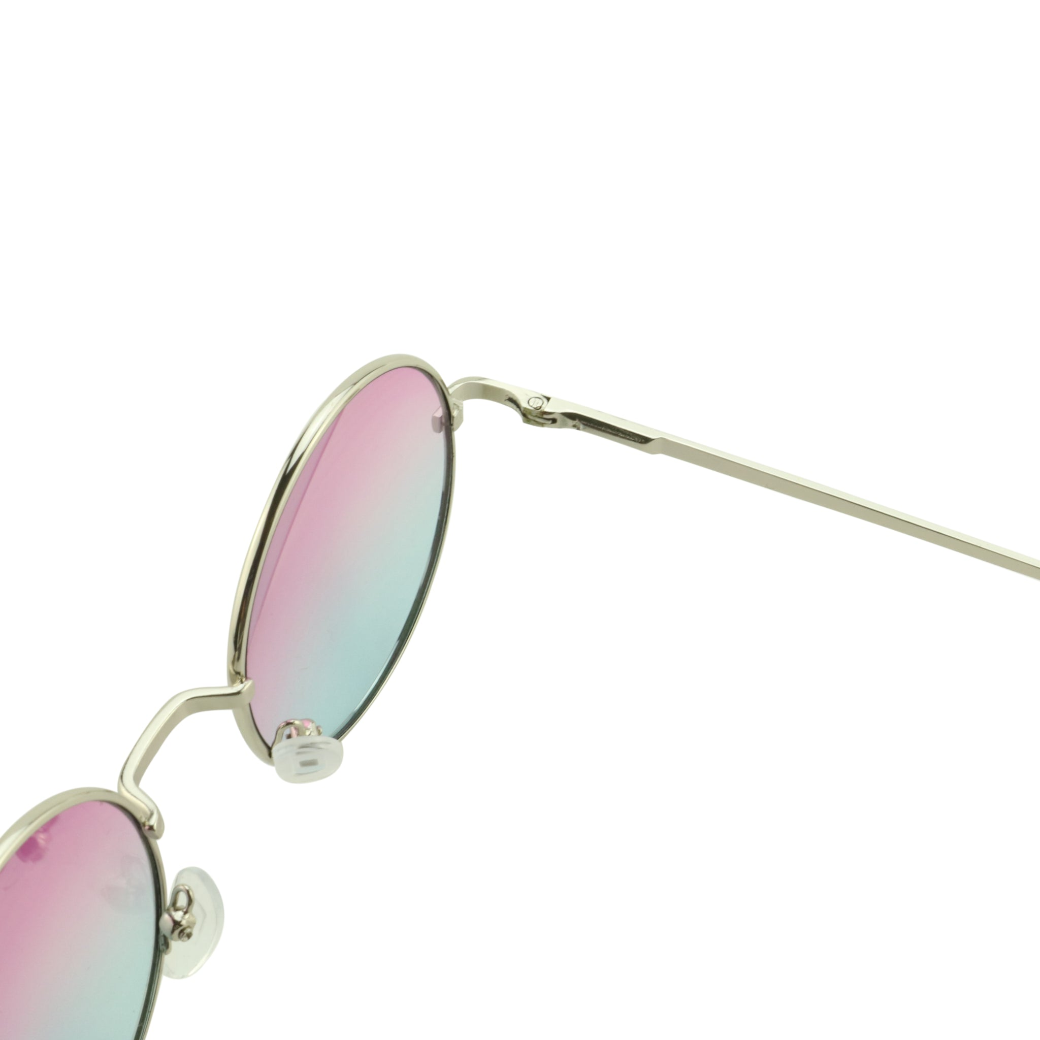 BRIAN 70s Round Lennon Style Metal Frame Oceanic Colored Lens Sunglasses - ShadyVEU