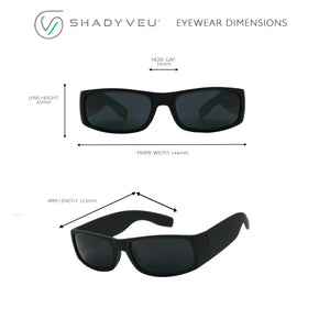 KACE Super Dark Slim Black Sports Mens Sunglasses - ShadyVEU