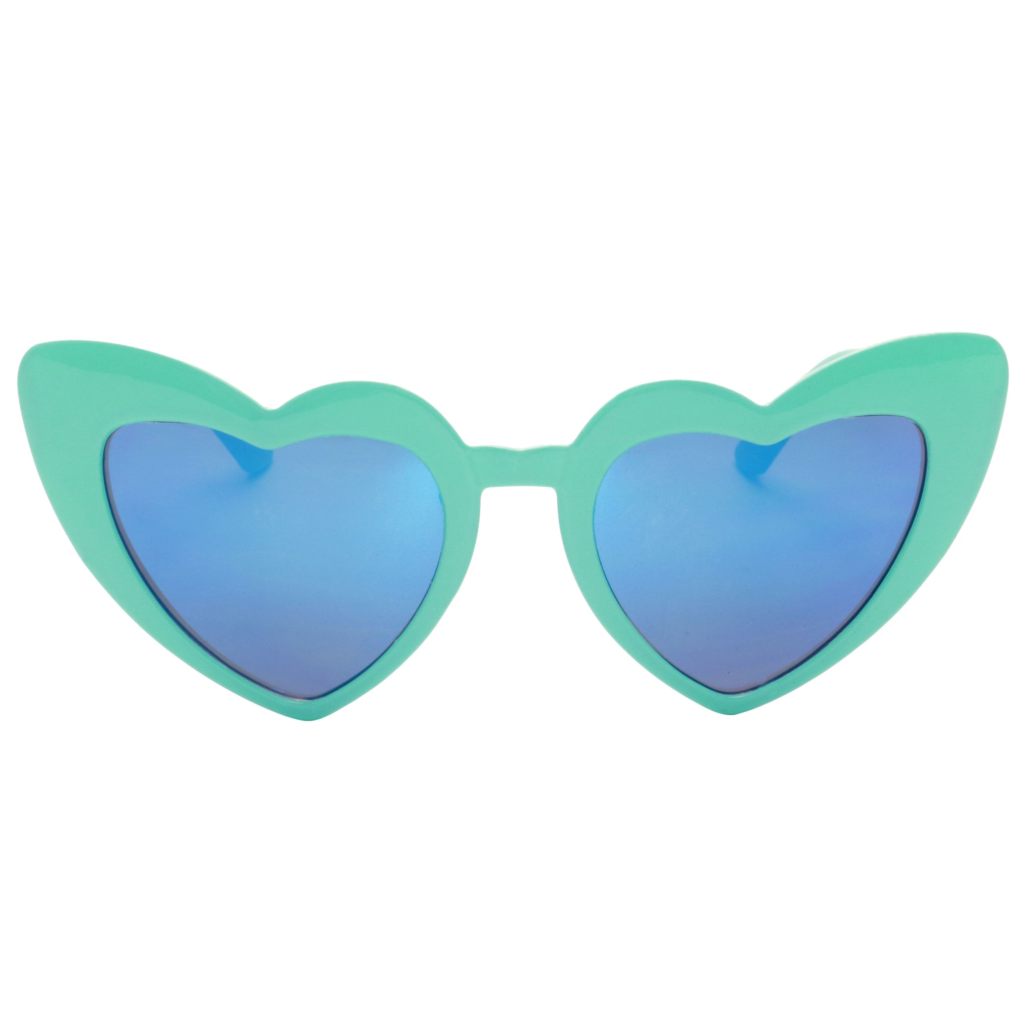 EMILY Heart Shaped Kiddies Mirrored Love Trendy Sunglasses - ShadyVEU