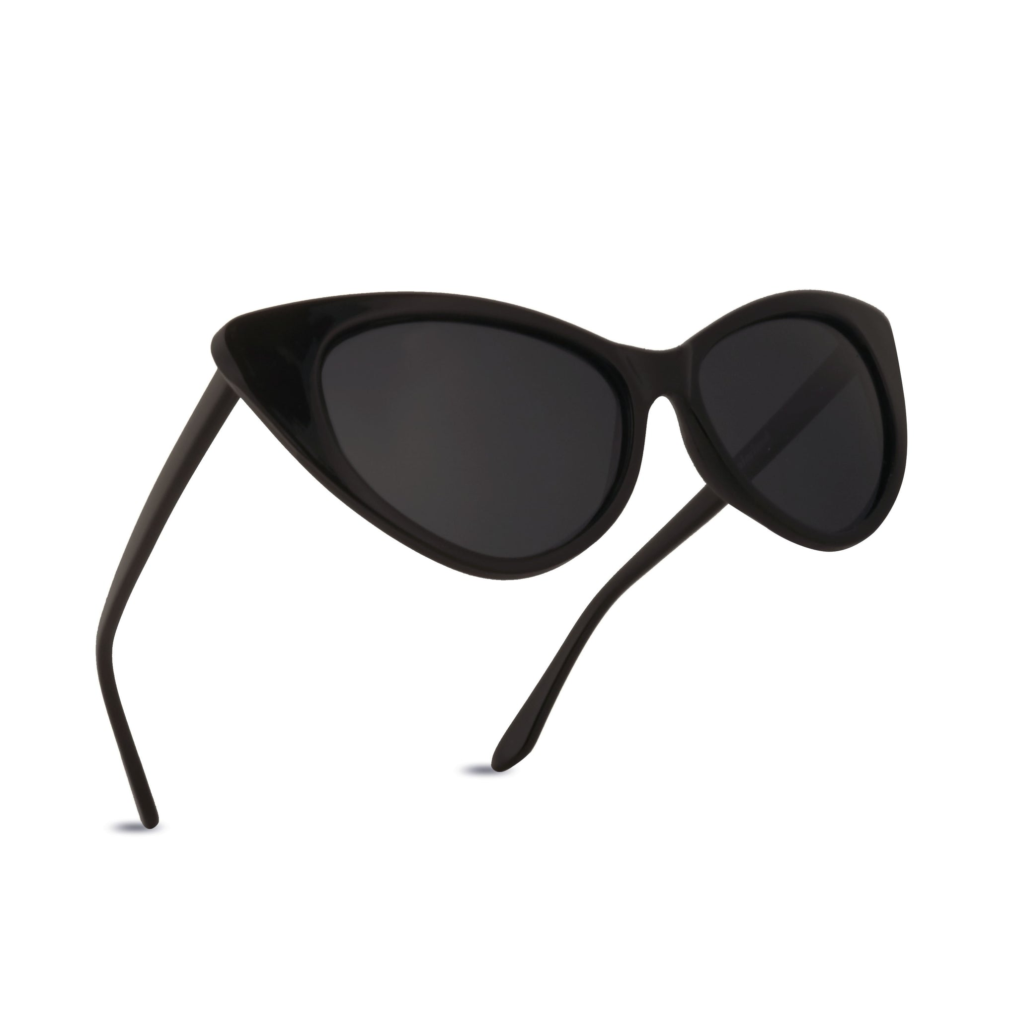 OLIVIA Polarized Cateye Sunglasses UV400 Exaggerated Retro Vintage Frame Trendy Fashion Shades