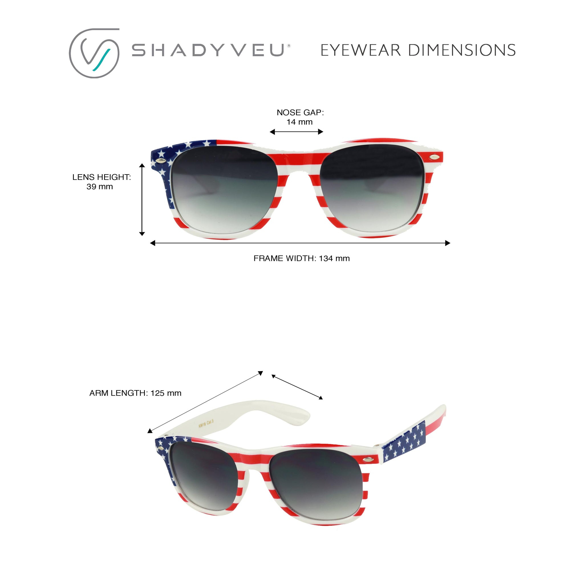 LUCAS Kid's American Flag Patriotic Stars Stripes Round Retro Sunglasses
