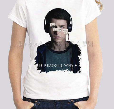 13 reasons why thirteen cheap sale discount promo netflix jewelry bracelet fan fangear gear hannah baker clay tee t-shirt tshirt women's