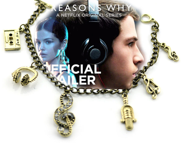 13 reasons why thirteen cheap sale discount netflix jewelry bracelet fan fangear gear hannah baker clay