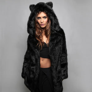 The Hooded Faux Fur Kitty Coat