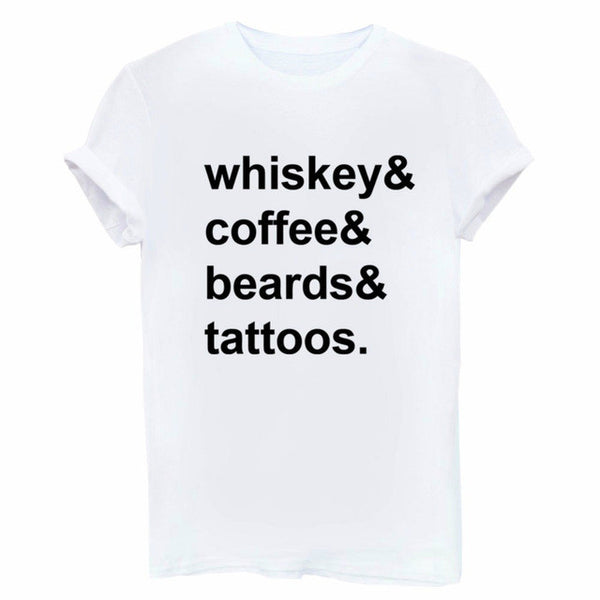 Classic tee, tshirt, cheap, sale, promo, discount, urban outfitters, free people, nasty gal, trendy, hipster, hip, cotton, the blonde salad, blogger, Sincerely jules, stylescrapbook  alexis ren whiskey coffee beards tattoos