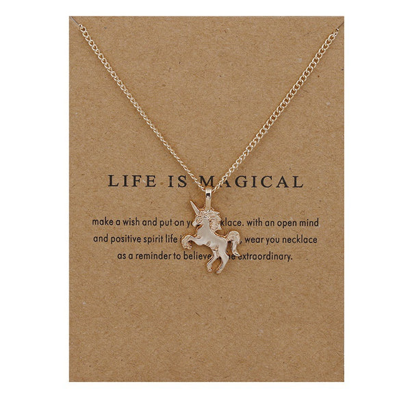 Unicorn Charm necklace, life is magical, magic believe real awesome, sale cheap promo discount, chain, unicorns, unicorn festival co, delicate, asos