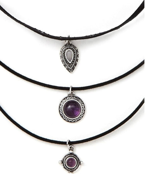 Multilayer Pendant Choker