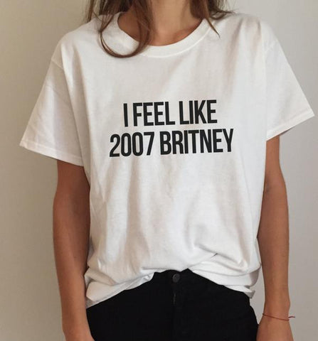 Classic tee, tshirt, cheap, sale, promo, discount, urban outfitters, free people, nasty gal, trendy, hipster, hip, cotton, the blonde salad, blogger, Sincerely jules, stylescrapbook  alexis ren i feel like 2007 britney