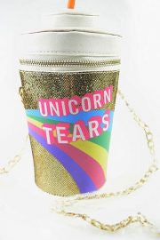Unicorn purse, tears, shoulder bag, unicorns, awesome, crossbody, unicorn festival co, sale, cheap promo discount asos believe real cup star nasty gal